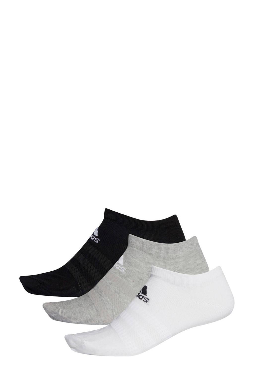 adidas Performance   sportsokken  - set van 3 zwart/grijs/wit, Zwart/grijs/wit