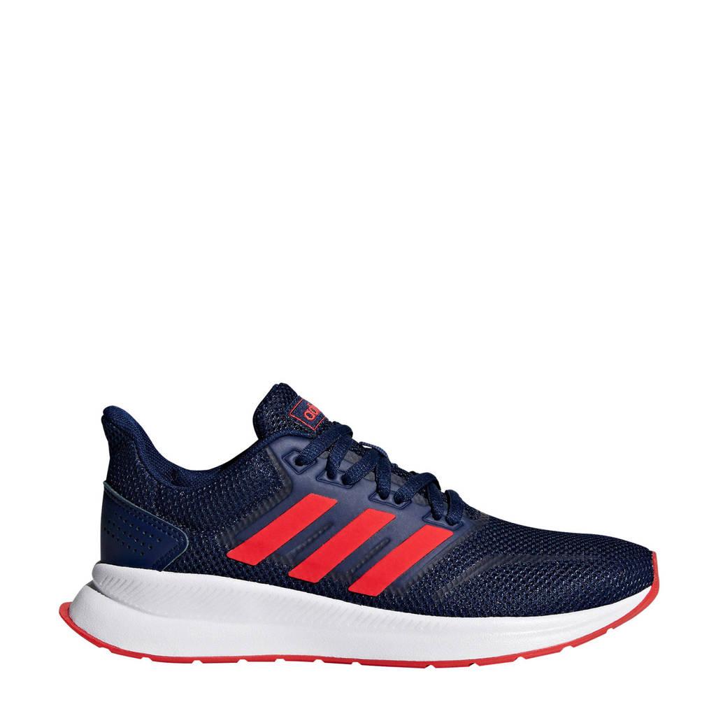 adidas Performance   Runfalcon hardloopschoenen donkerblauw kids, Donkerblauw/rood, Jongens/meisjes