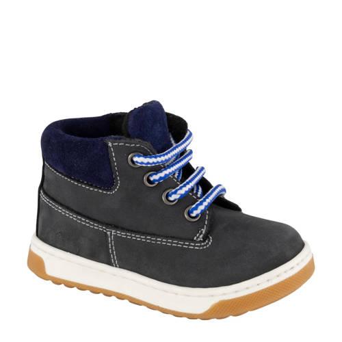 Bobbi-Shoes leren enkelboots donkerblauw