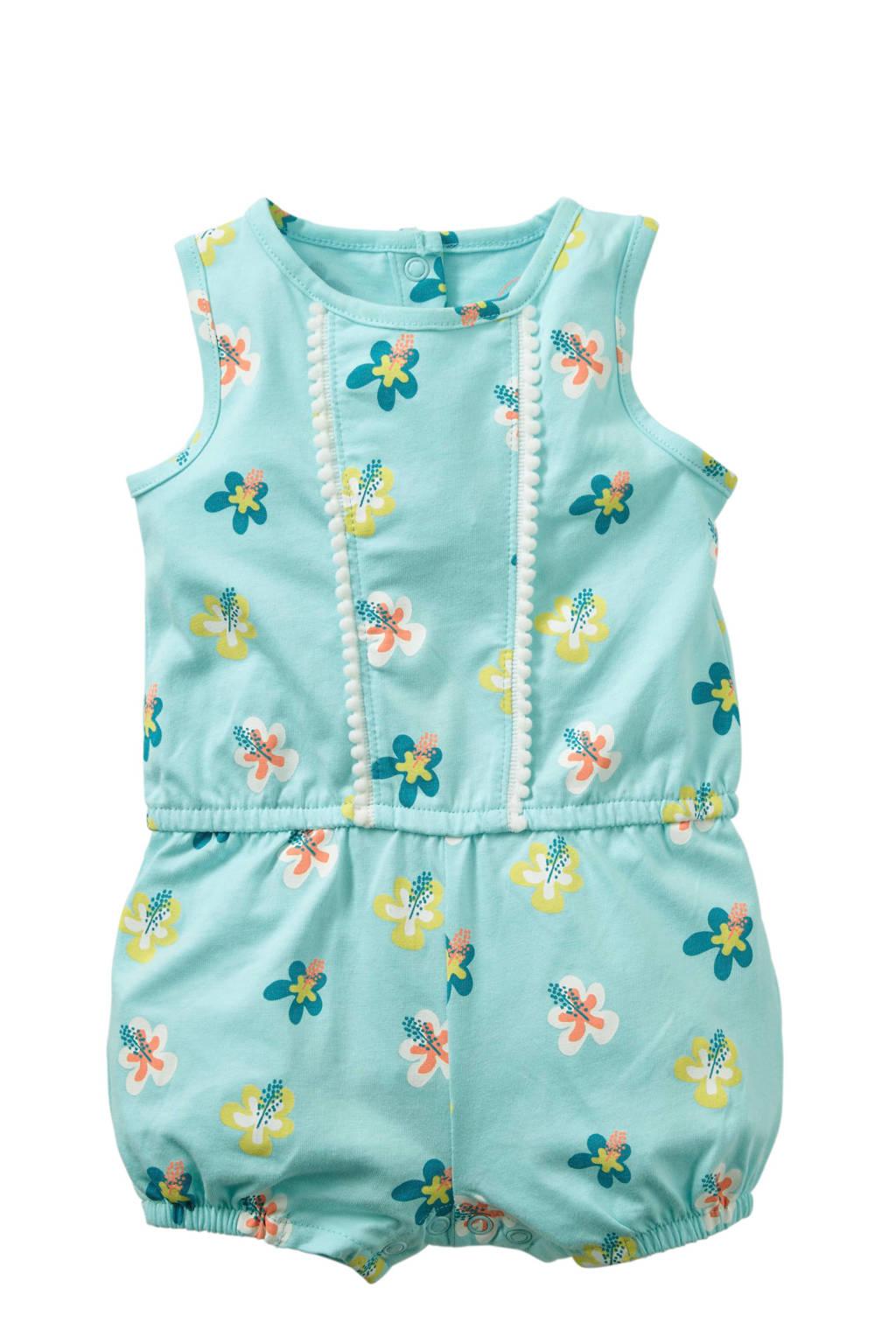 C&A Baby Club gebloemde jumpsuit lichtblauw, Lichtblauw