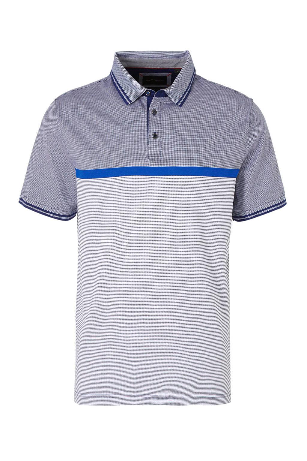 C&A polo, Blauw/wit