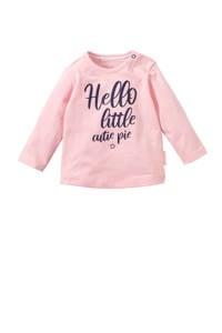 Quapi baby longsleeve Xara met tekst roze, Roze