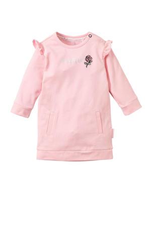 baby jurk Xanne met tekst roze
