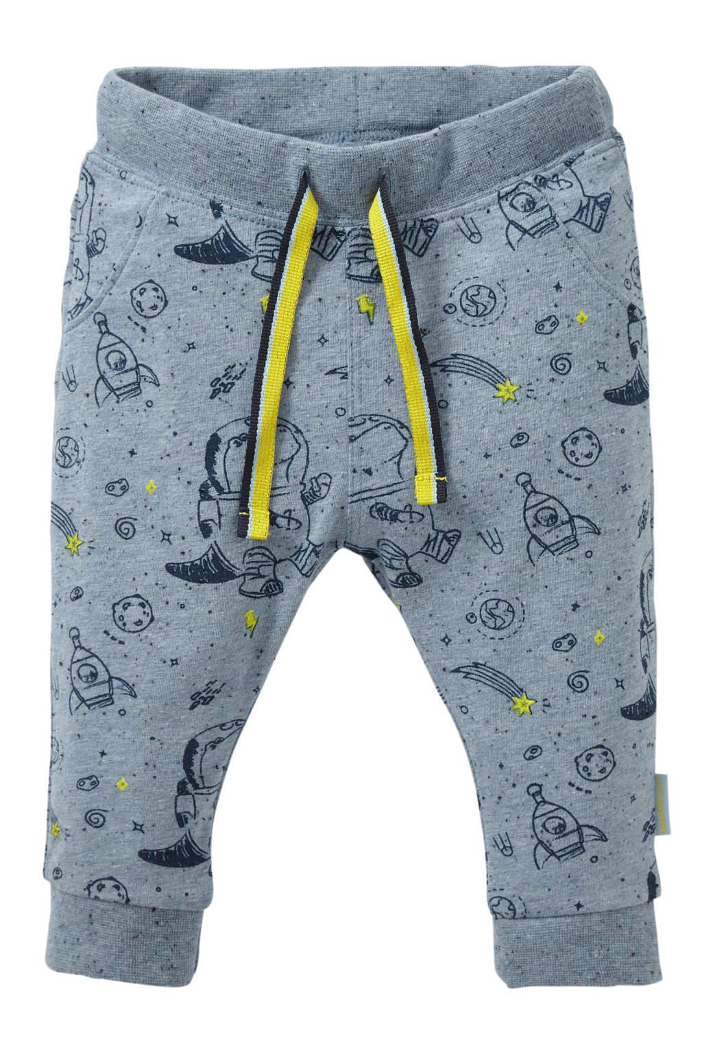 Quapi baby broek Xenno met all over print blauw/donkerblauw, Blauw/donkerblauw
