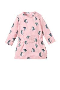Quapi baby sweatjurk Xaja met all over print roze/grijs, Roze/grijs