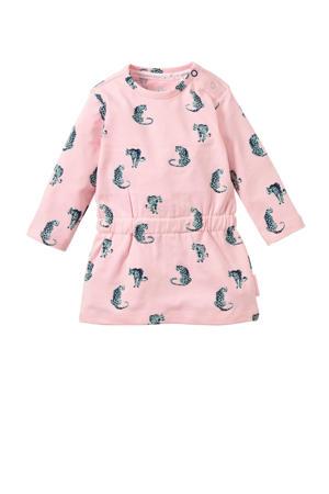baby sweatjurk Xaja met all over print roze/grijs