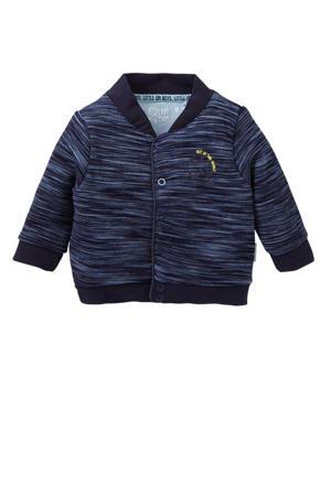 baby vest Xavir met streepdessin donkerblauw