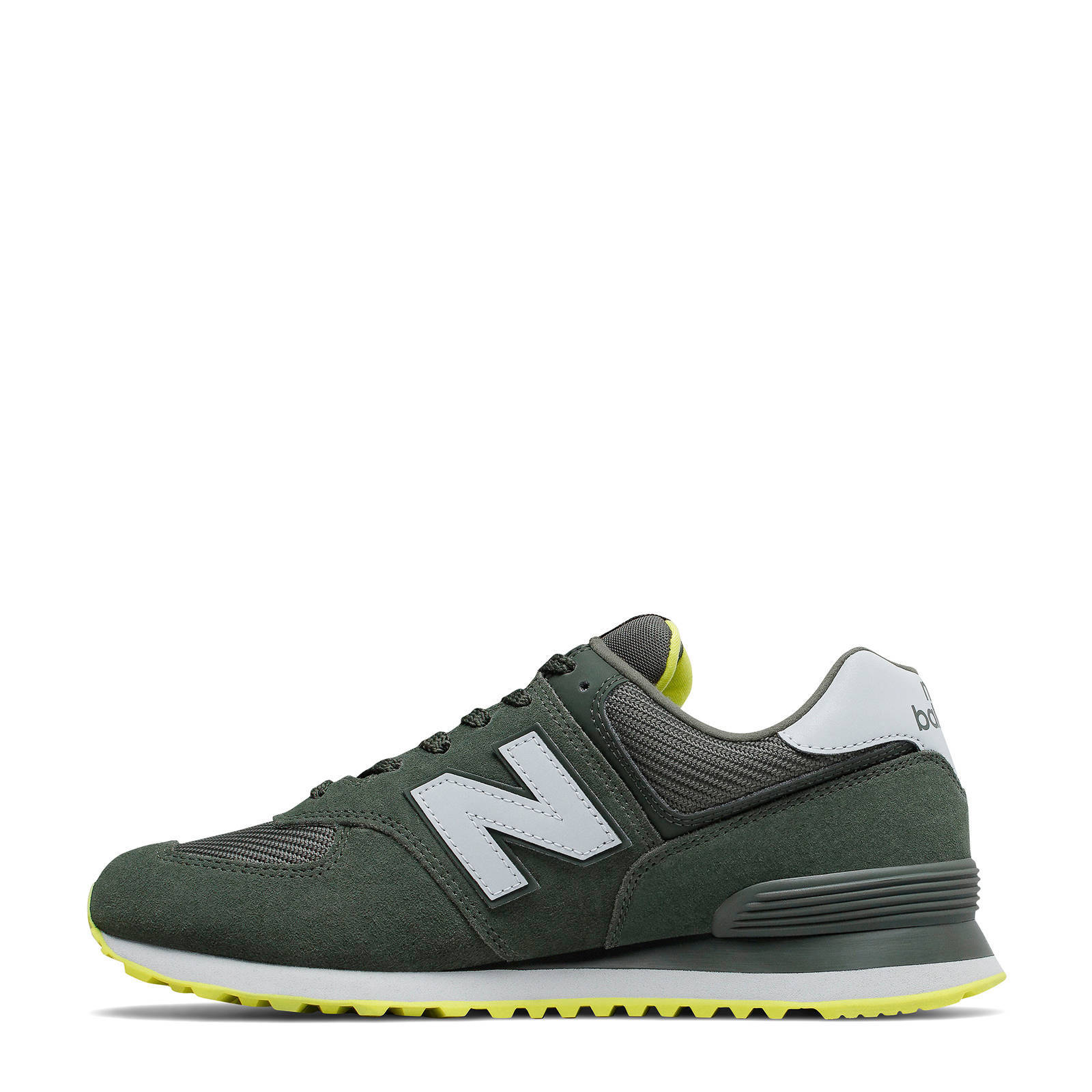 New Balance 574 sneakers groen/geel | wehkamp