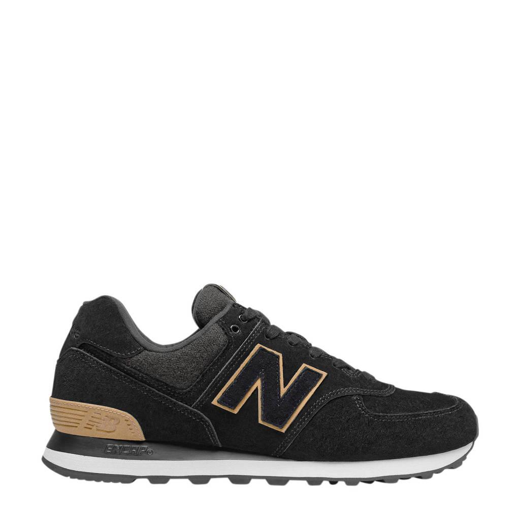 New Balance 574  sneakers zwart/beige, Zwart/beige