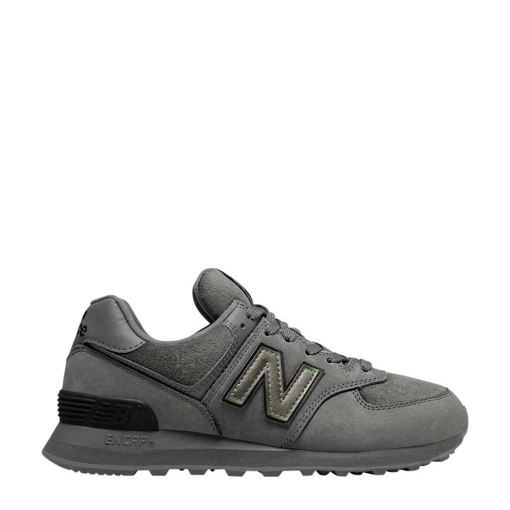New Balance 574  suède sneakers grijsblauw, Grijsblauw