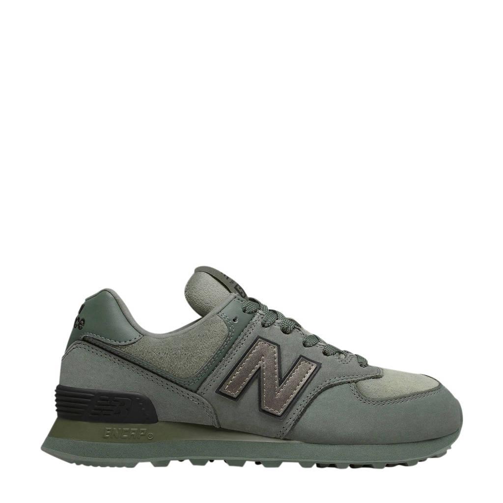 New Balance   suède sneakers kakigroen, Olijfgroen