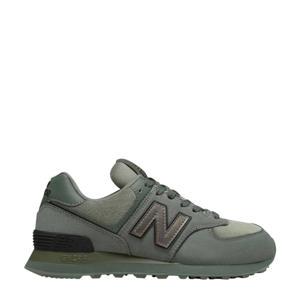 suède sneakers kakigroen