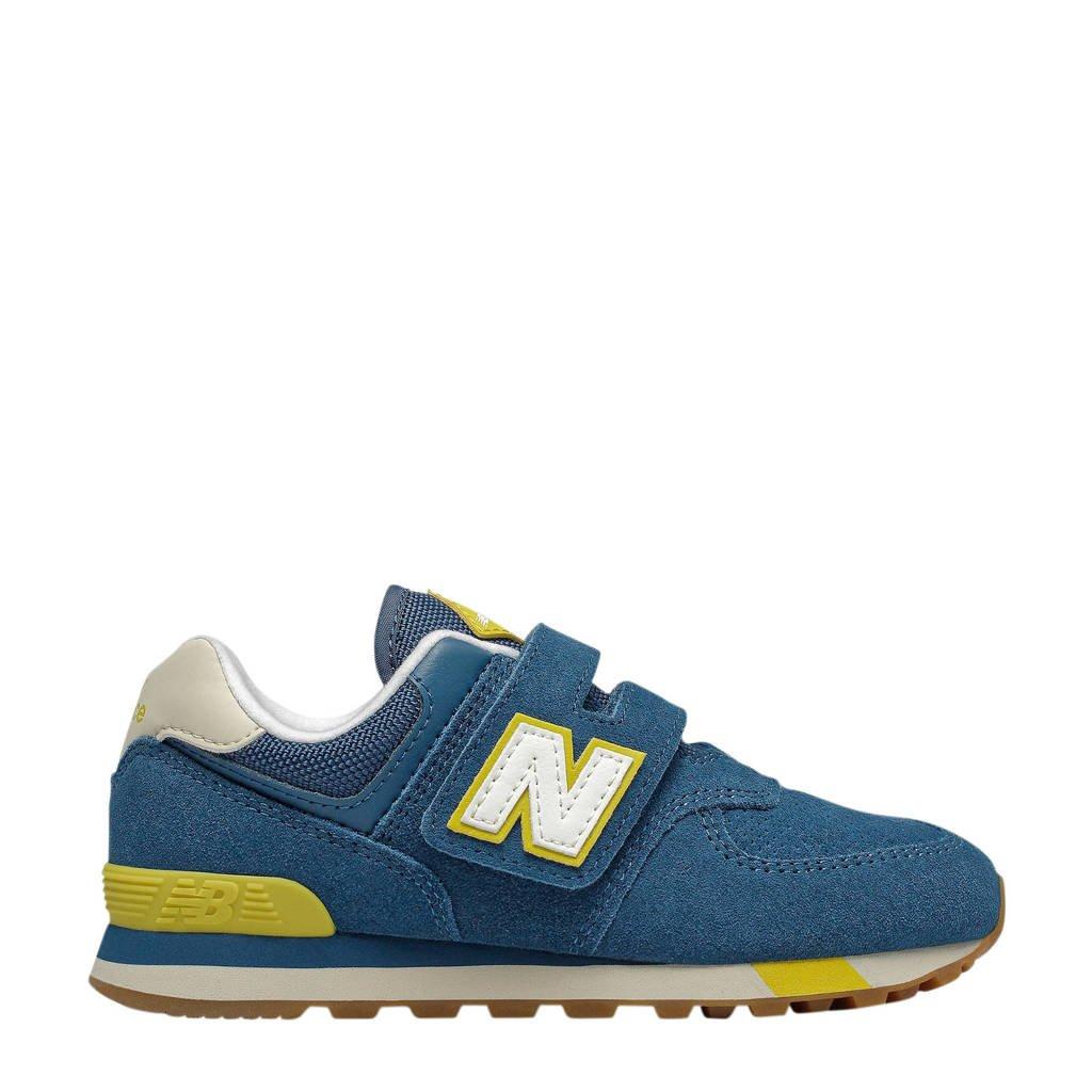 New Balance  574 sneakers blauw/geel, Blauw/geel