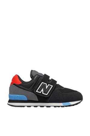 574 sneakers zwart/grijs/rood