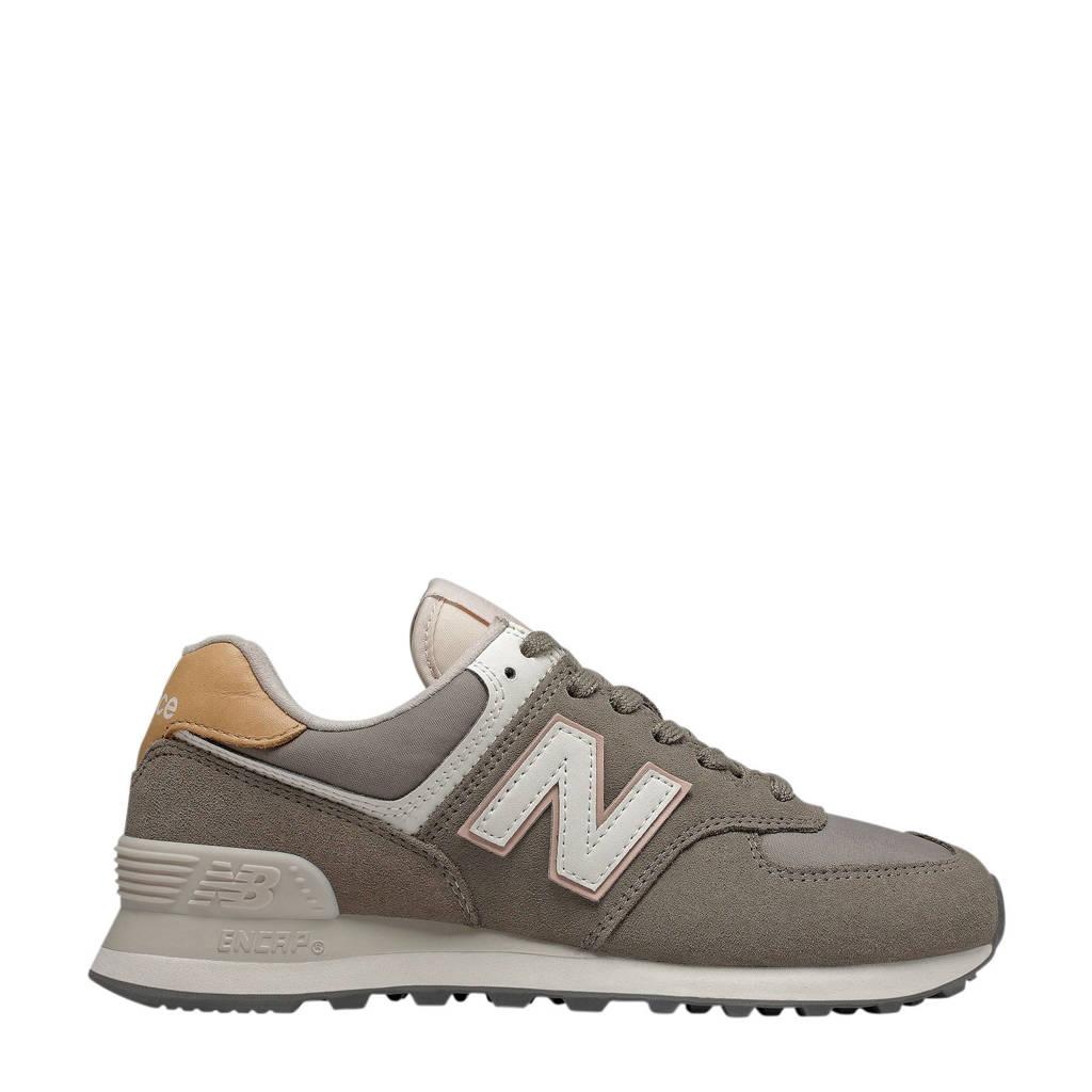 New Balance 574  suède sneakers grijs/wit, Grijs/wit