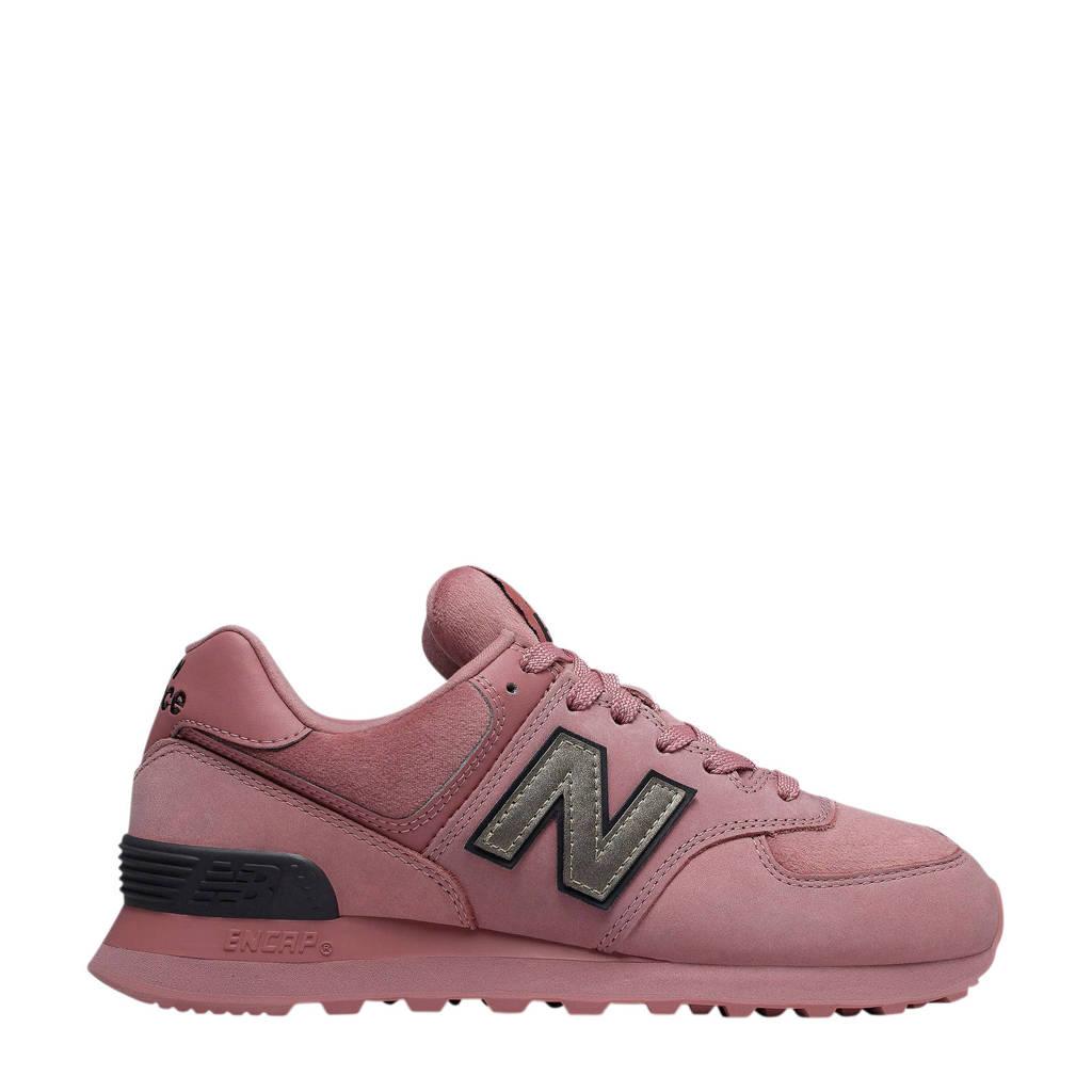 New Balance 574  suède sneakers roze, Roze