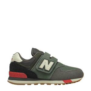 574 sneakers kaki/zwart/rood
