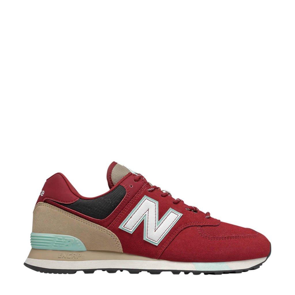 New Balance 574  sneakers rood/beige, Rood/beige