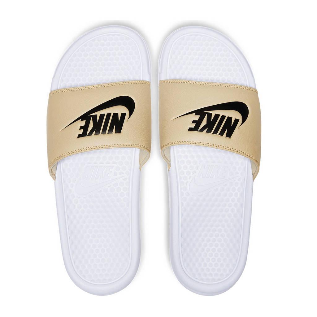 Nike  Benassi JDI badslippers goudkleurig, Goudkleurig/zwart