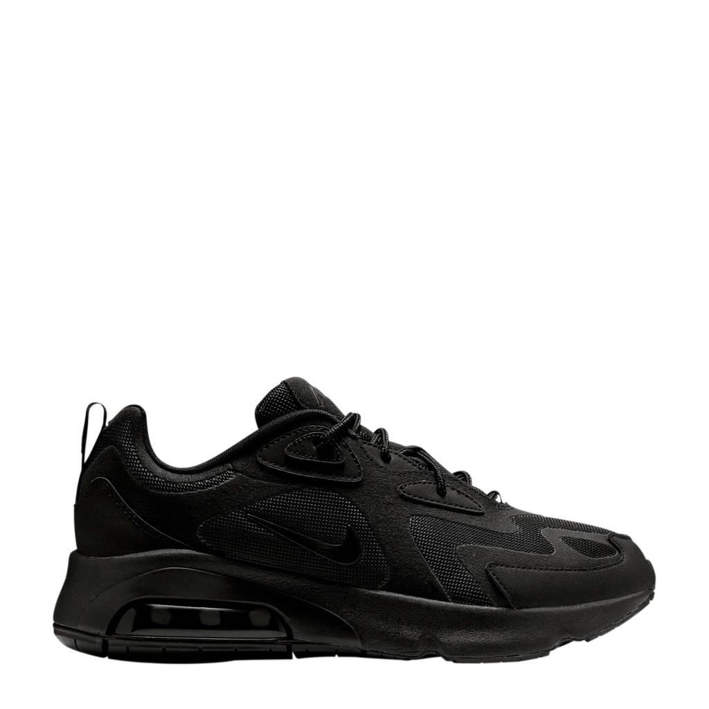 Nike Air Max 200 sneakers zwart, Zwart