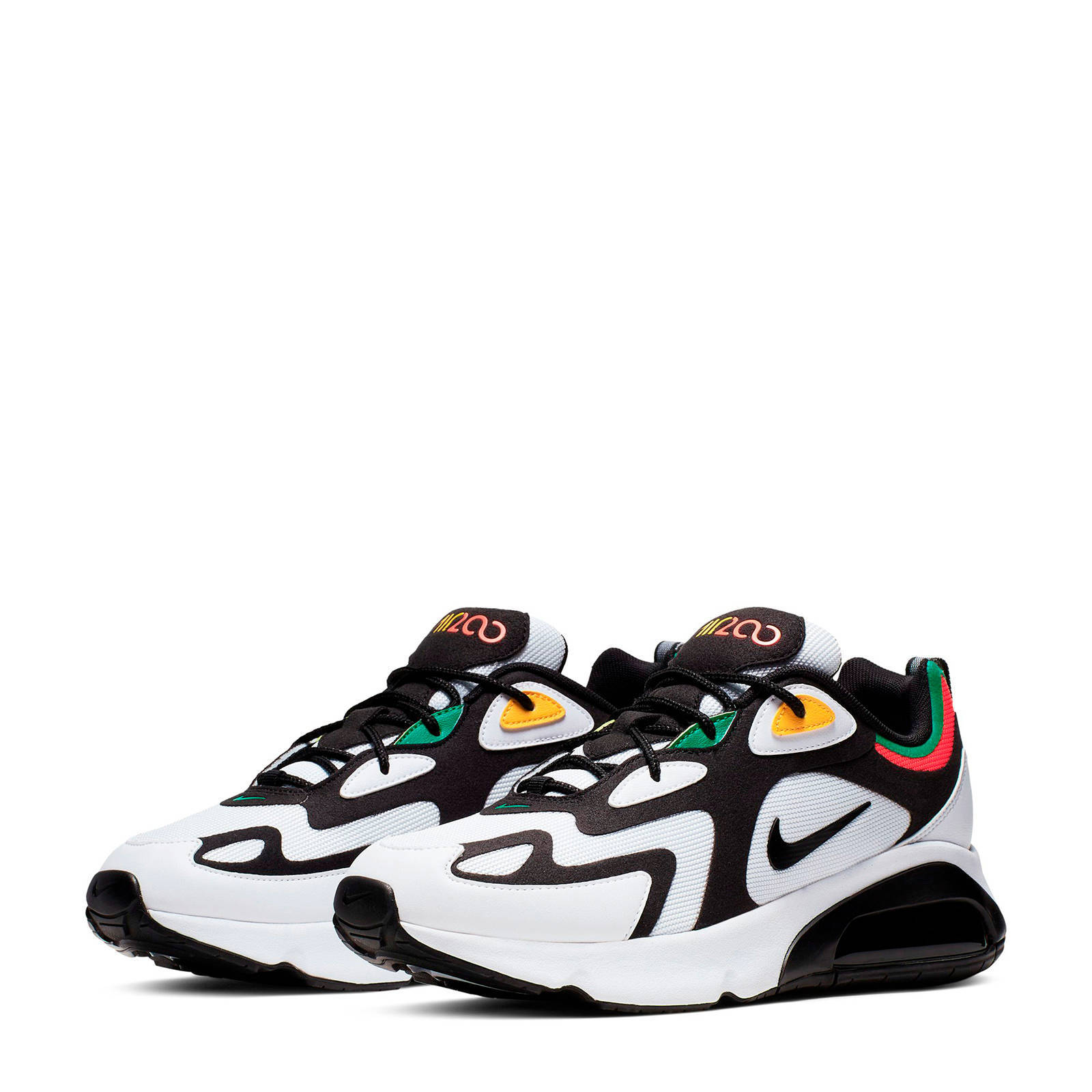 Nike Air Max 200 sneakers zwart/wit | wehkamp