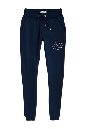 regular fit joggingbroek donkerblauw