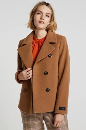 coat Mandala met wol bruin