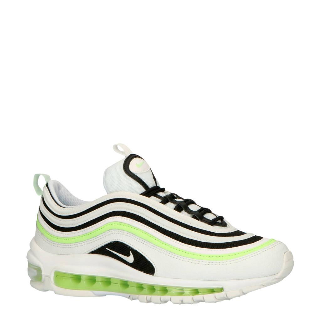 Nike AIR MAX 97 leren sneakers wit/geel/zwart, Wit/geel/zwart
