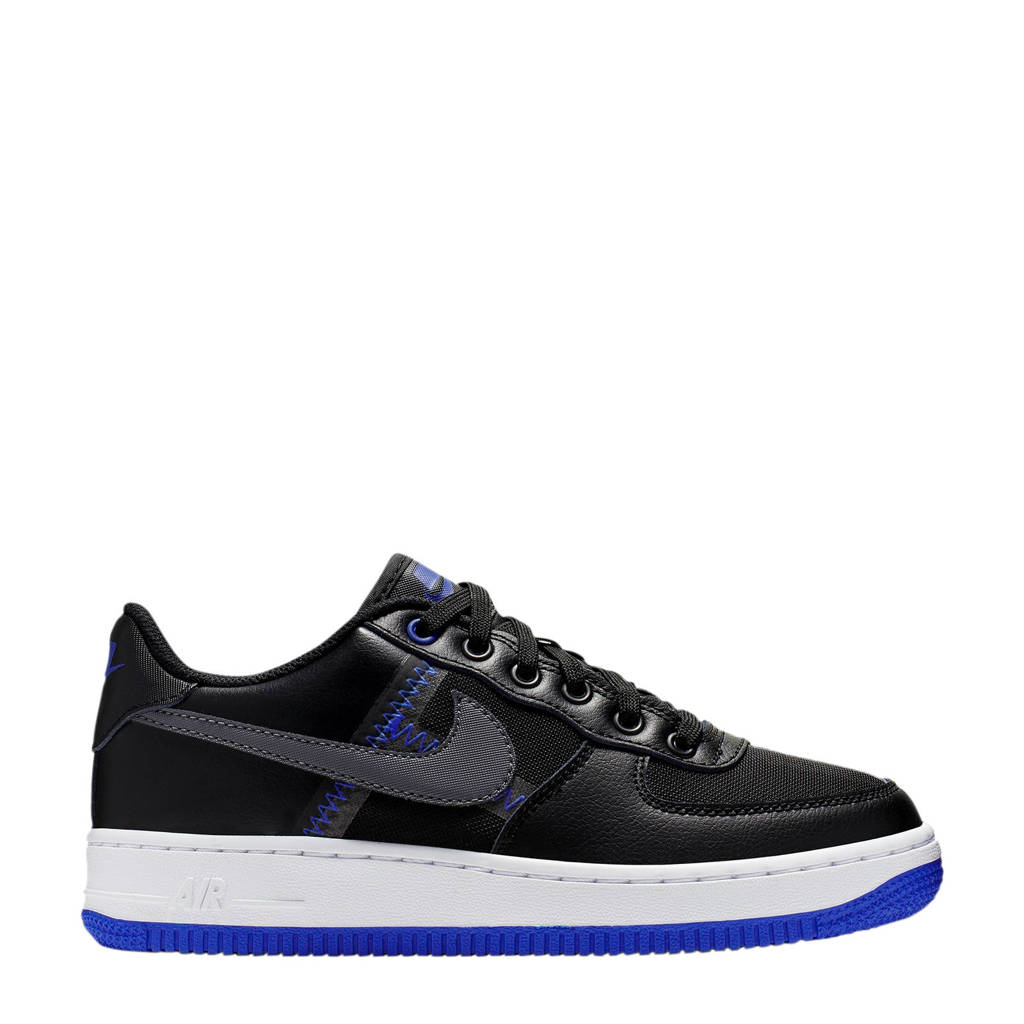 Nike  Air Force 1 sneakers zwart, Zwart/wit/blauw
