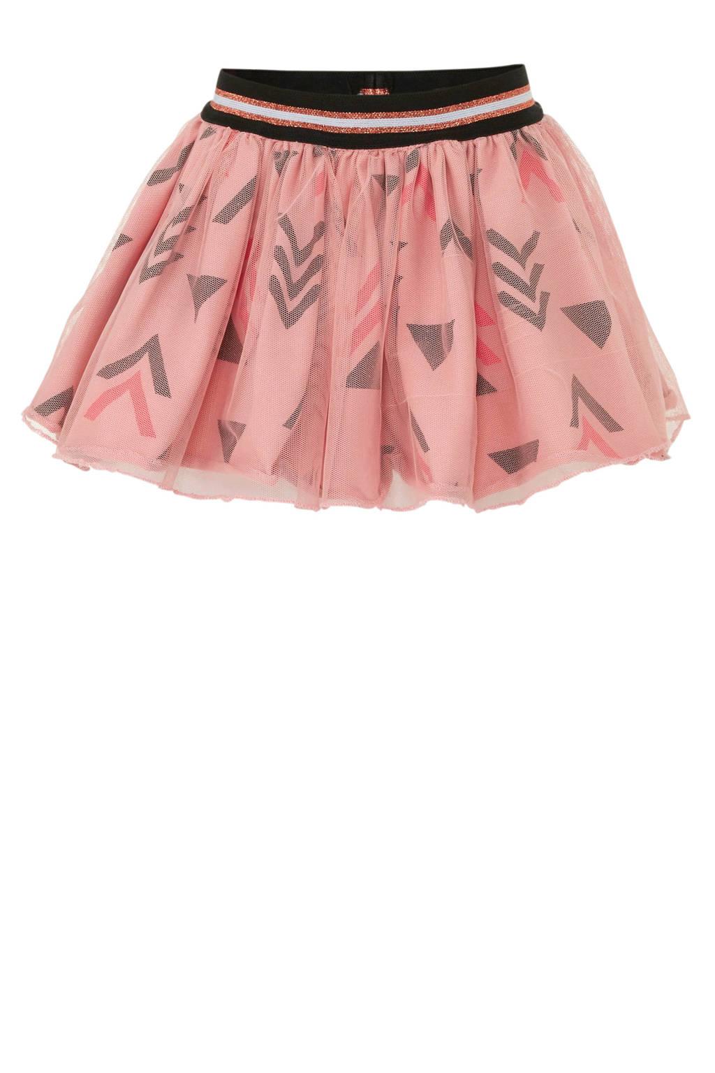 Beebielove rok met grafisch dessin roze, Roze