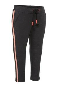 Beebielove skinny broek met zijstreep antraciet, Antraciet