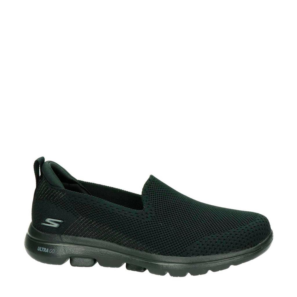 Skechers   Go Walk 5 instappers zwart, Zwart