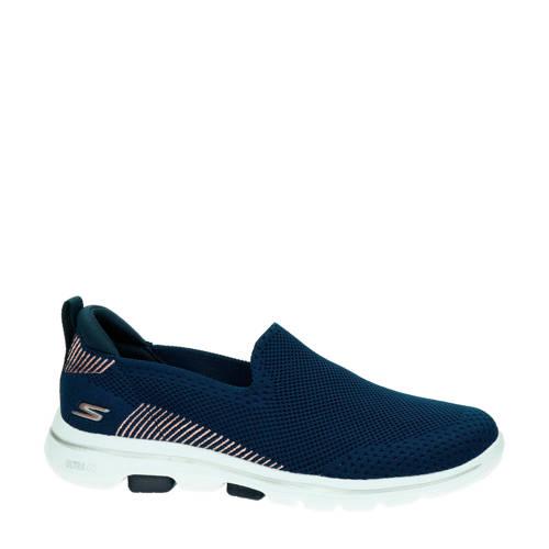 Skechers Go Walk 5 instappers donkerblauw