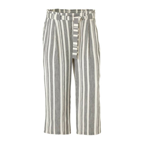C&A Canda gestreepte loose fit broek wit/zwart