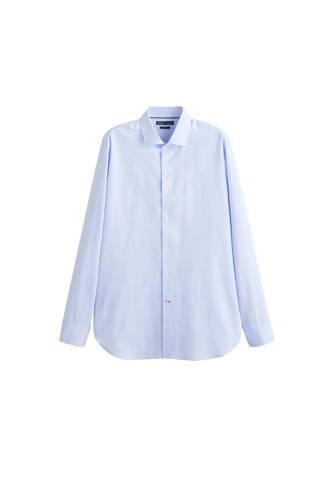 slim fit overhemd met textuur