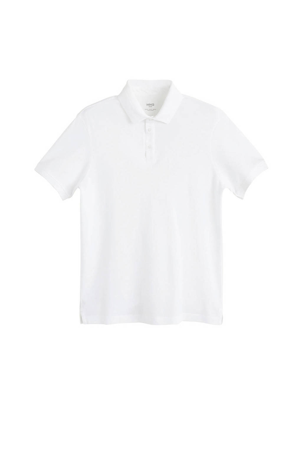 Mango Man regular fit polo wit, Wit