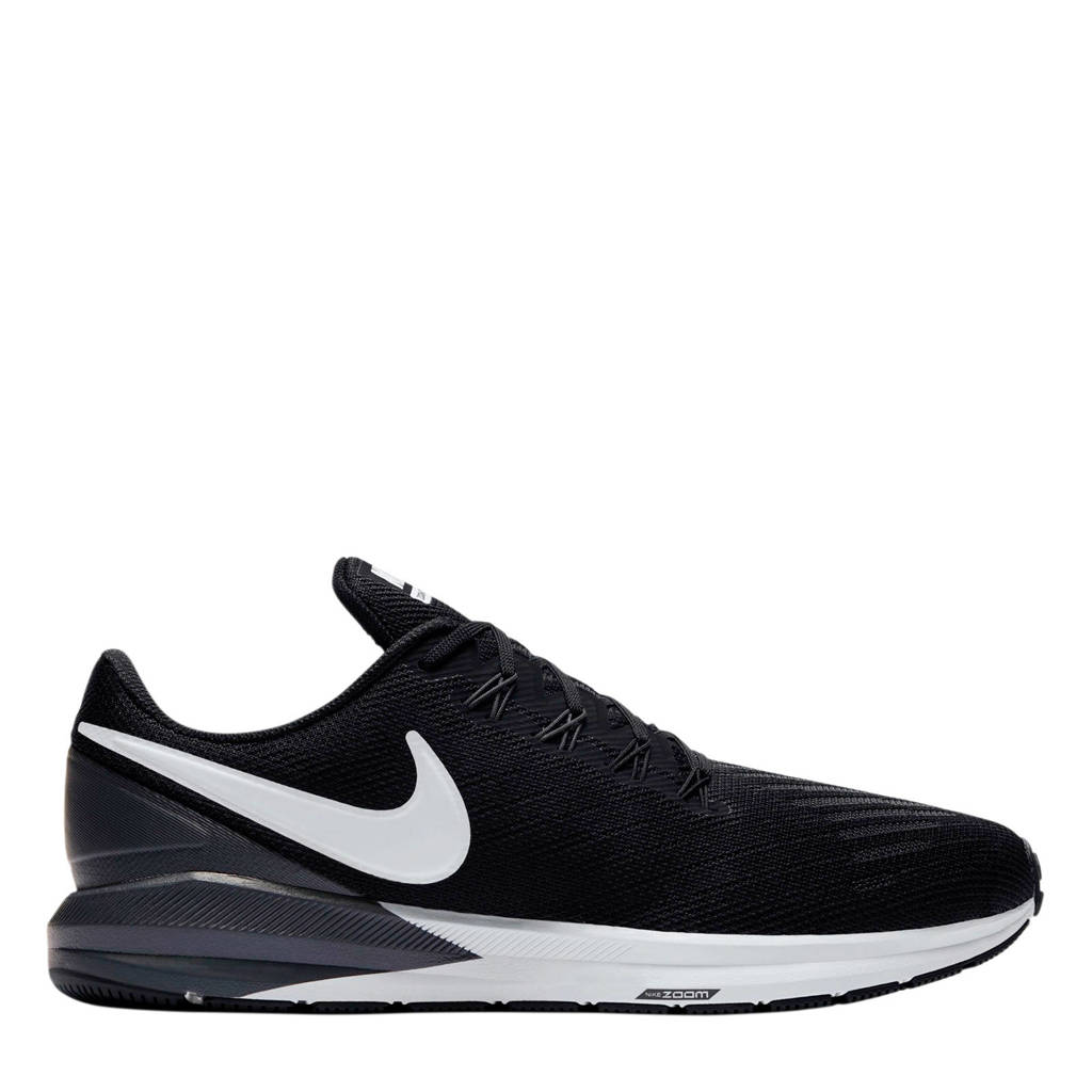 Nike   Air Zoom Structure 22 hardloopschoenen zwart, Zwart/wit