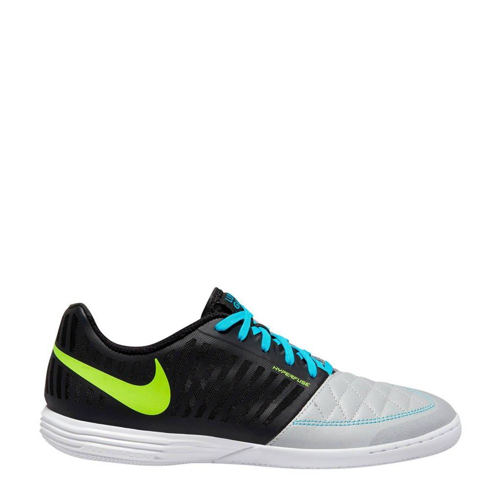 Nike   Lunar Gato II IC zaalvoetbalschoenen, Zwart/lichtgrijs/blauw/geel