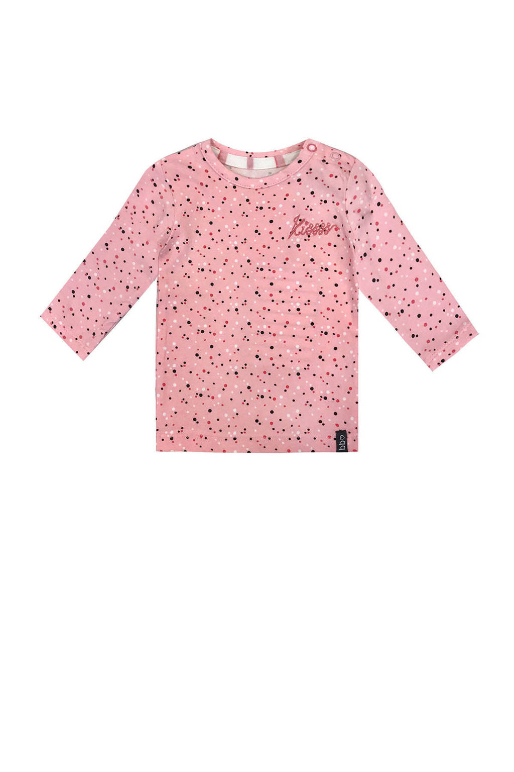 Beebielove longsleeve met stippen roze, Roze