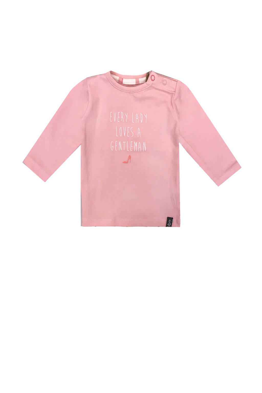 Beebielove longsleeve met tekst roze, Roze