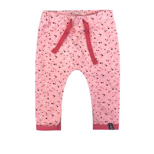Beebielove broek met stippen roze
