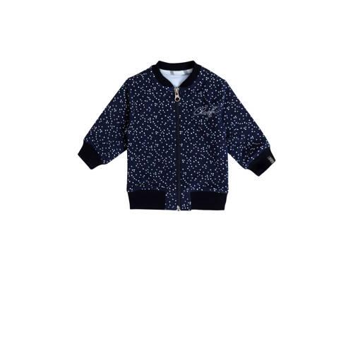 Beebielove vest met stippen donkerblauw