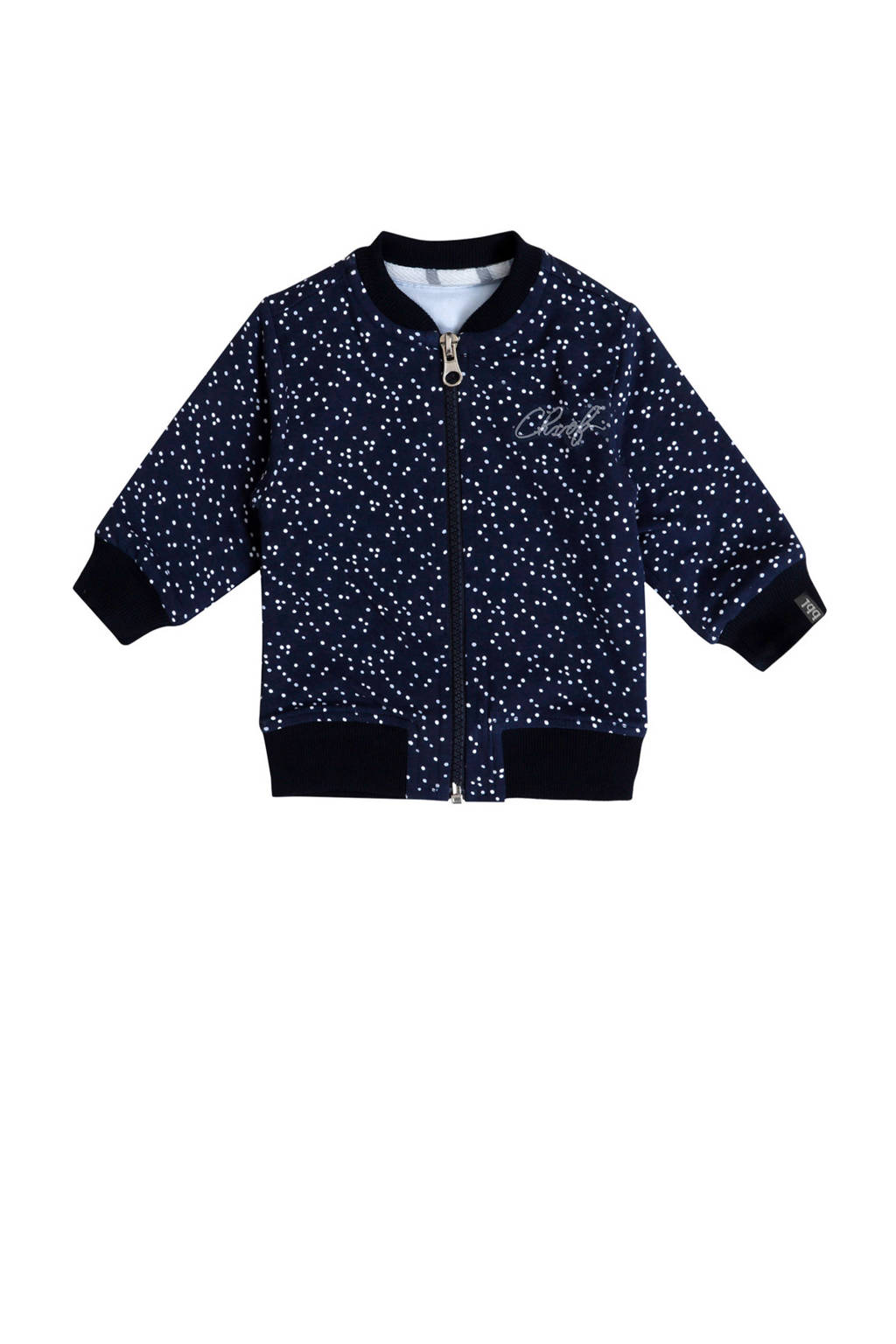 Beebielove vest met stippen donkerblauw, Donkerblauw