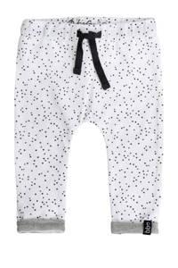 Beebielove broek met stippen wit, Wit