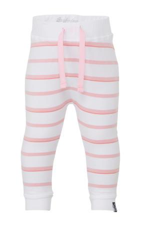 gestreepte broek wit/roze