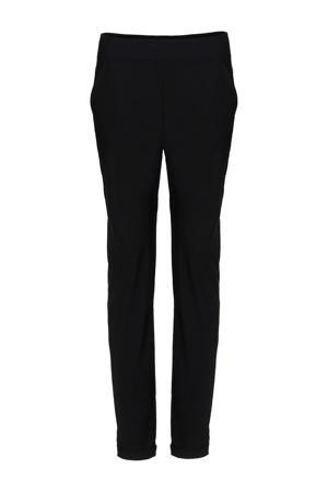 tapered fit broek van travelstof zwart