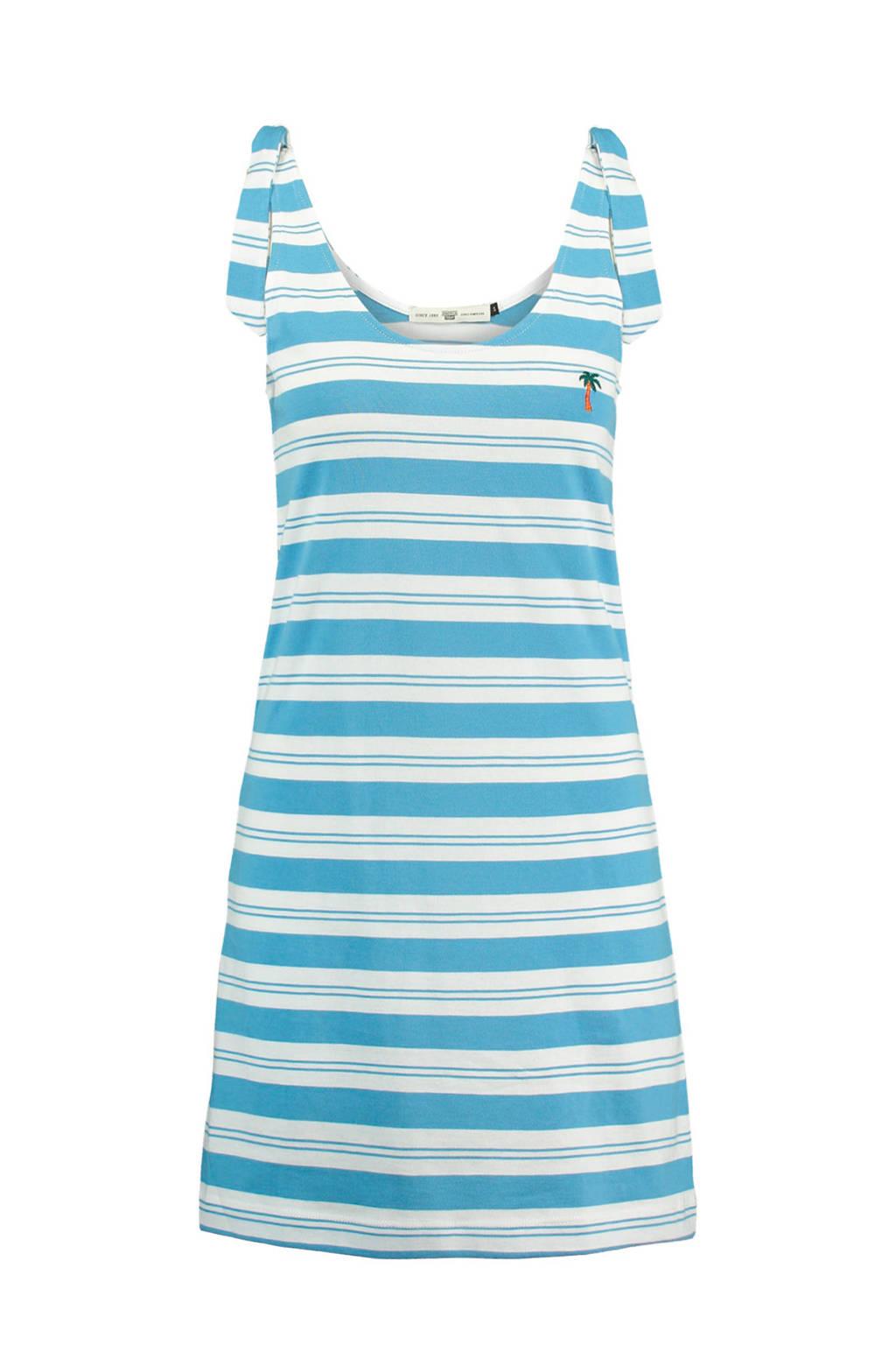 America Today Dacey jurk blauw, Blauw/wit