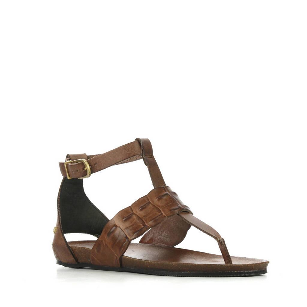 Fred de la Bretoniere 170010071 leren sandalen donkerbruin, Donkerbruin