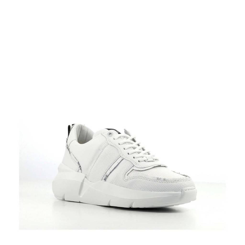 Nubikk Lucy Fringe leren sneakers wit, Wit