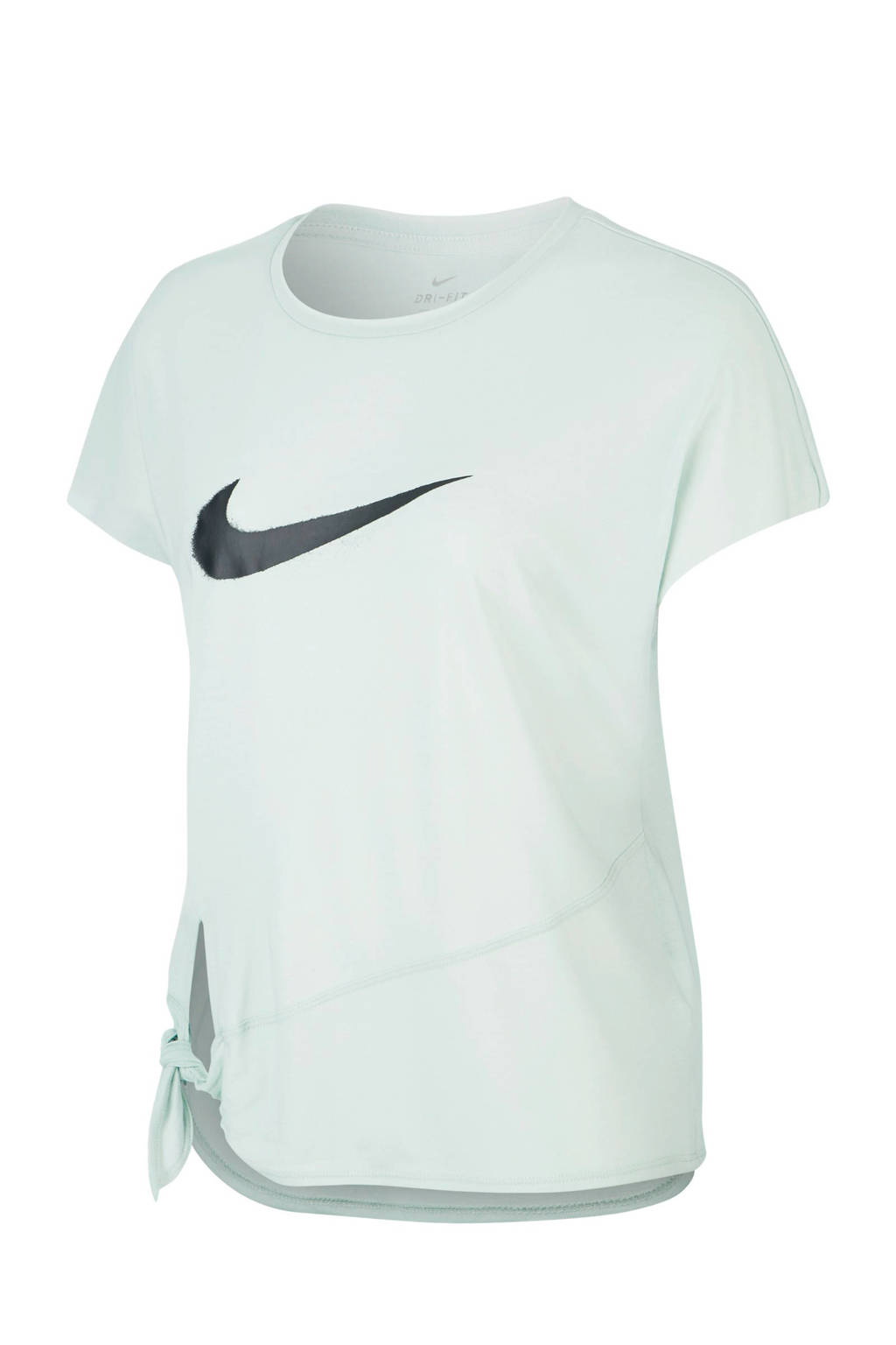Nike sport T-shirt lichtgroen, Lichtgroen/zwart